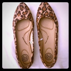 SO leopard print flats